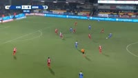 Ruslan Malinovsky scores in the match Oostende vs Genk