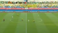 Prejuce Nakoulma scores in the match Gabon vs Burkina Faso