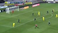 Emiliano Sala scores in the match Nantes vs Caen