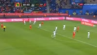 Aissa Mandi scores own goal in the match Algeria vs Tunisia