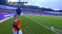 Wilfried Bony scores in the match Ivory Coast vs D.R. Congo