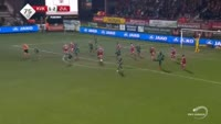 Nebojsa Pavlovic scores in the match Kortrijk vs Waregem