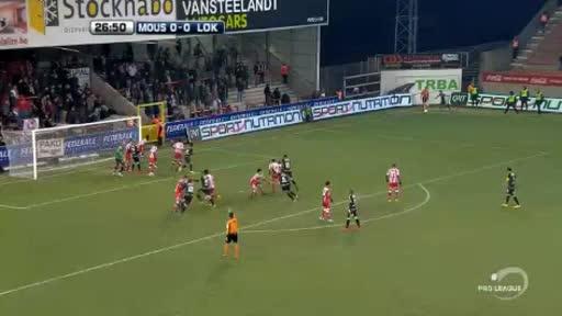 Mouscron Peruwelz Lokeren goals and highlights
