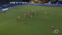 Nany Landry Dimata scores in the match Waasland-Beveren vs Oostende