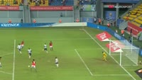 Abdallah El-Said scores in the match Egypt vs Uganda