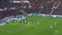 Valentin Stocker scores in the match Bayer Leverkusen vs Hertha Berlin