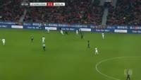 Hakan Calhanoglu scores in the match Bayer Leverkusen vs Hertha Berlin