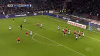 Gaston Pereiro scores in the match PSV vs Heerenveen