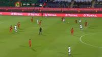 Rudinilson Gomes Brito Silva scores own goal in the match Guinea Bissau vs Burkina Faso