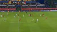 Bertrand Traore scores in the match Guinea Bissau vs Burkina Faso