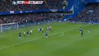 Willian Borges scores in the match Chelsea vs Brentford