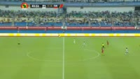 Prejuce Nakoulma scores in the match Burkina Faso vs Tunisia