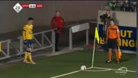 Brandon Mechele scores in the match St. Truiden vs Oostende