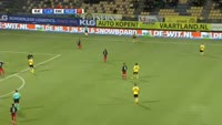 Mitchell Paulissen scores in the match Roda vs Excelsior