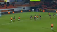 Sylvain Marveaux scores in the match Lorient vs Dijon