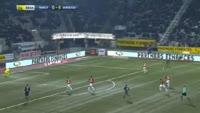 Joffrey Cuffaut scores own goal in the match Nancy vs Bordeaux