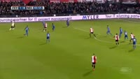 Eljero Elia scores in the match Feyenoord vs Nijmegen