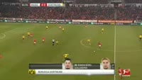 Marco Reus scores in the match Mainz vs Dortmund