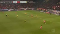 Danny Latza scores in the match Mainz vs Dortmund