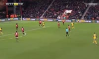Alexis Sanchez scores in the match Bournemouth vs Arsenal