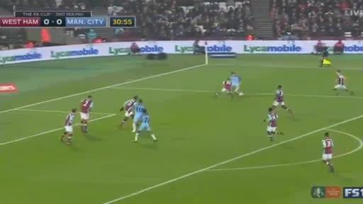 West Ham Manchester City goals and highlights
