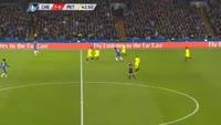 Michy Batshuayi scores in the match Chelsea vs Peterborough
