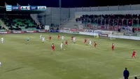 Brown Ideye scores in the match Xanthi vs Olympiakos Piraeus