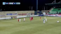 Luka Milivojevic scores in the match Xanthi vs Olympiakos Piraeus