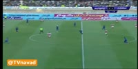 Ali Alipour scores in the match Esteghlal Khuzestan vs Persepolis