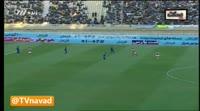 Shoja Khalilzadeh scores in the match Esteghlal Khuzestan vs Persepolis