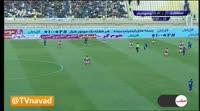 Reza Karmollachaeb scores in the match Esteghlal Khuzestan vs Persepolis