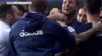 Aaron Niguez scores in the match R. Oviedo vs Zaragoza