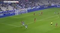 Jose Verdu Nicolas scores in the match R. Oviedo vs Zaragoza