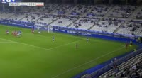 Mikel Gonzalez scores in the match R. Oviedo vs Zaragoza