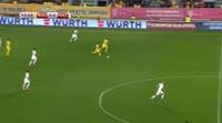 Claudiu Keseru scores in the match Romania vs Kazakhstan