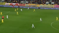 Baurzhan Turysbek scores in the match Romania vs Kazakhstan
