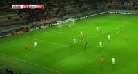 Davy Propper scores in the match Belarus vs Netherlands