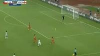 Jadon Sancho scores in the match Chile U17 vs England U17