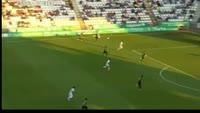 Sasa Markovic scores in the match Cordoba vs Alcorcon