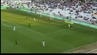 Hugo Alvarez scores own goal in the match Cordoba vs Alcorcon