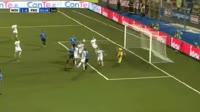Moutir Chaija scores in the match Novara vs Frosinone