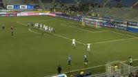 Andrea Beghetto scores own goal in the match Novara vs Frosinone