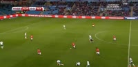 Chris Brunt scores own goal in the match Norway vs Northern Ireland