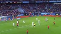 Jordi Alba scores in the match Spain vs Costa Rica