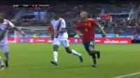 Alvaro Morata scores in the match Spain vs Costa Rica