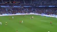 David Silva scores in the match Spain vs Costa Rica