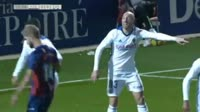 Gonzalo Melero scores in the match Huesca vs Zaragoza