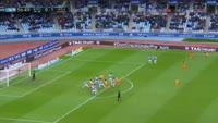 Chory Castro scores in the match Real Sociedad vs Malaga