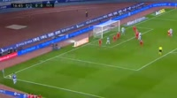 Inigo Martinez scores in the match Real Sociedad vs Sevilla