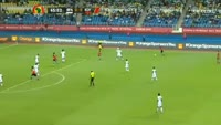 Mohamed Salah scores in the match Burkina Faso vs Egypt